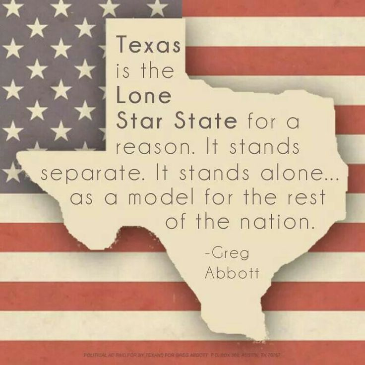 Texas stands strong as a model for the nation!