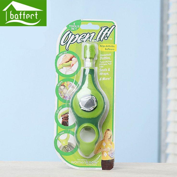 Multi Открывалка Для Бутылок Консервный нож 4Tools in 1 откручивать Обертывания палить Язычки HPT1028 купить на AliExpress