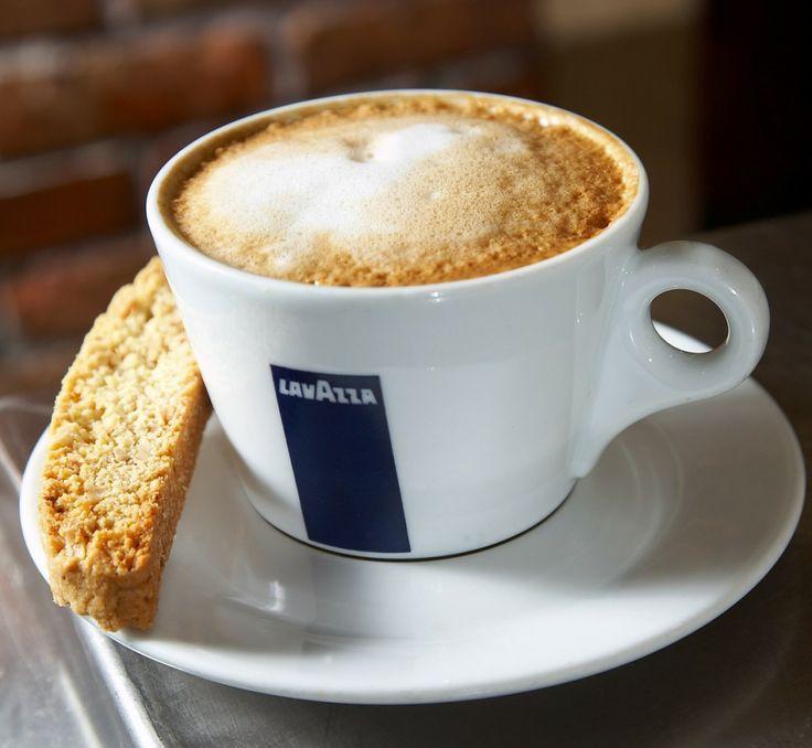 """Cafe Bar """"MALEN"""" and Lavazza Cappuccino."""
