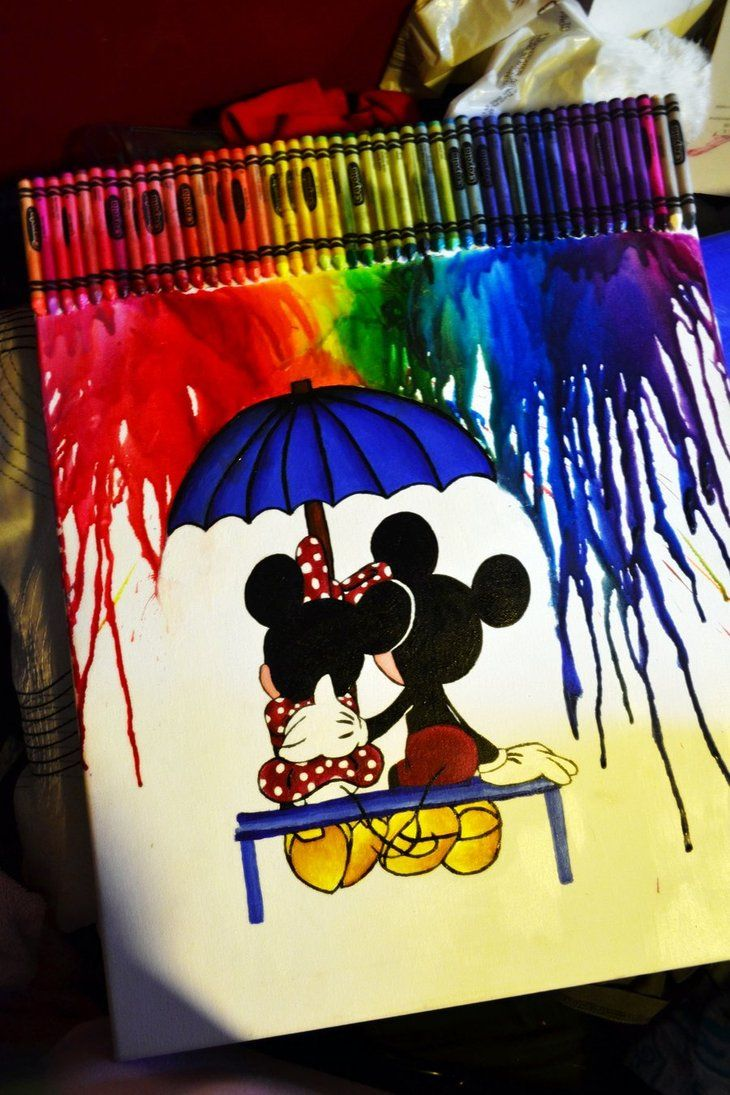 Love #mickey#minnie abstract , beautiful painting