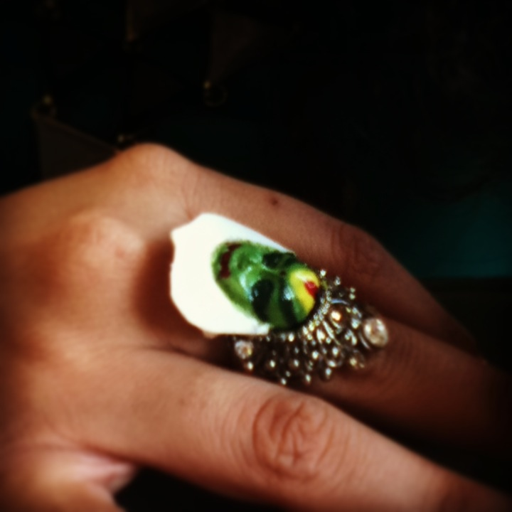 Ethnic Kathak Ring (Custom Made by Whacky Shop)   accessories   customized   thewhackyshop   eccentric   indianesque  