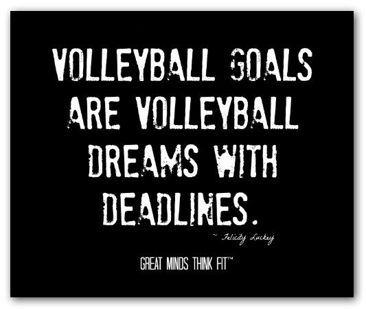 25+ Best Inspirational Volleyball Quotes On Pinterest