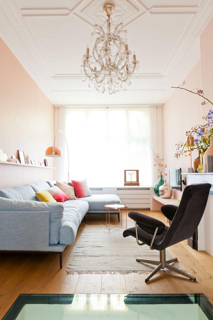 Mooi licht kopertonen ook op de muur, hier zijn toegepast de kleur Aanbeveling en Vla.