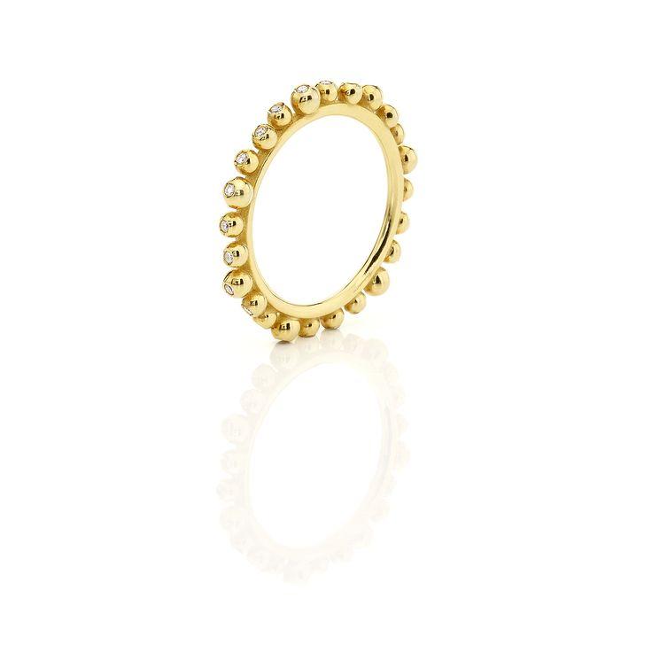 Yellow gld ring full of brilliants #huffyjewels www.huffyjewels.com