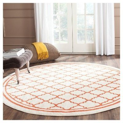 Camembert Rectangle 5' X 8' Indoor/Outdoor Patio Rug - Beige / Orange - Safavieh