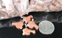 5 шт./лот DolphinForm аметист розовый кварц опал зеленый авантюрин драгоценный камень исцеление чакра кулон в форме ожерелье