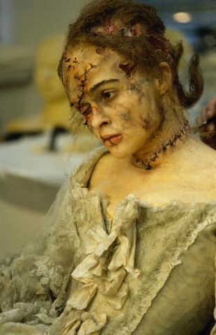 suicideblonde:    Helena Bonham Carter in Frankenstein    AHHHHHH!!!!!!!!!!!!!! Crazy makeup