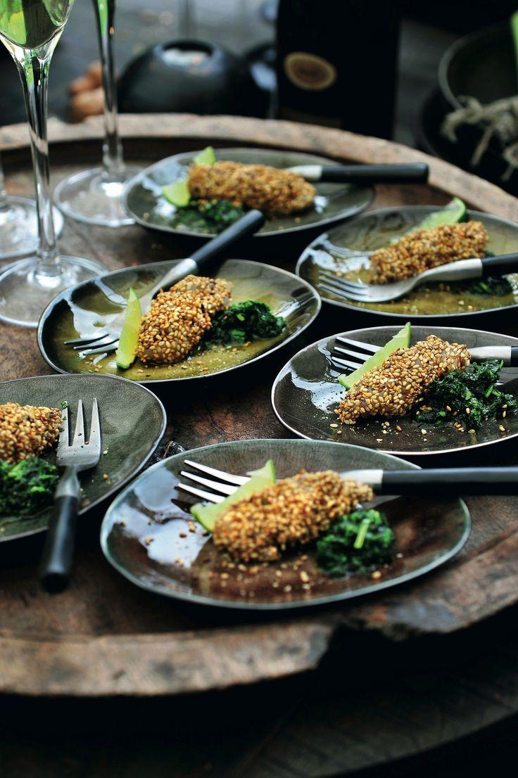 Pascale Naessens recept - Rauwe heilbot met sesamolie en koriandersausje