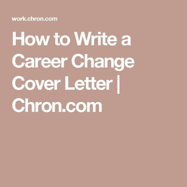 128 best Jobs images on Pinterest Job interviews, Resume ideas - sample cover letter career change