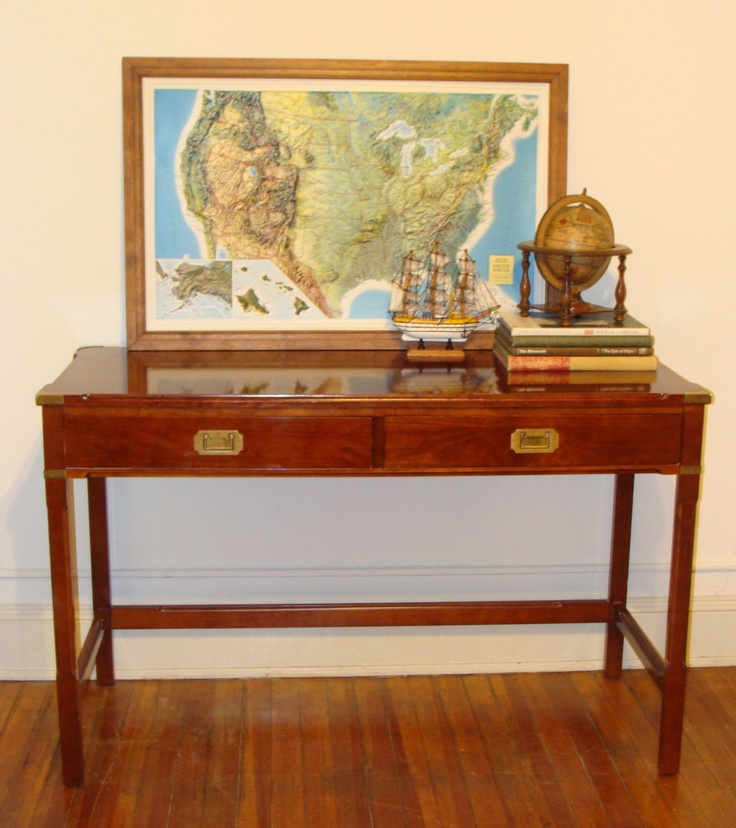 1000 images about campaign furniture on pinterest campaign dresser red ca - Console style colonial ...