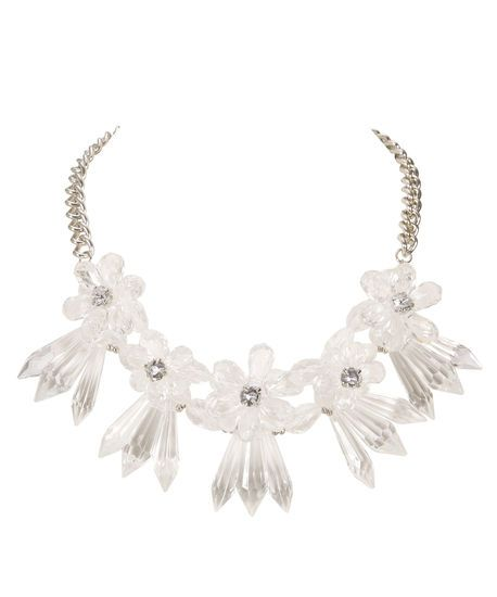 Floral Lucite Statement Necklace . Buy it now - or find your Ricki's store - at www.rickis.com #rickis #summer2014
