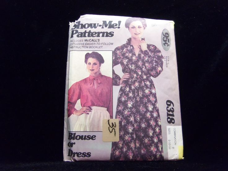"Misses' Blouse or Dress ""Show-Me"" Pattern McCall's 6318 1970s patterns retro clothing vintage clothing sewing Women's size 8-10-12"