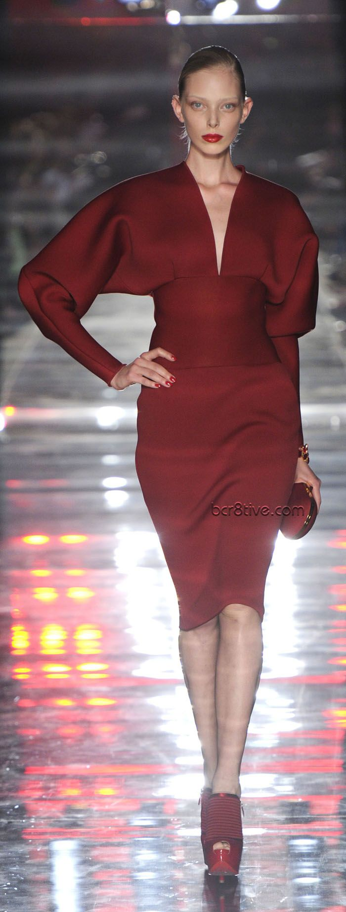 Alexandre Vauthier Fall Winter 2011 - 2012 Haute Couture Dark Red Evening Wear. I love this style of dress...:)