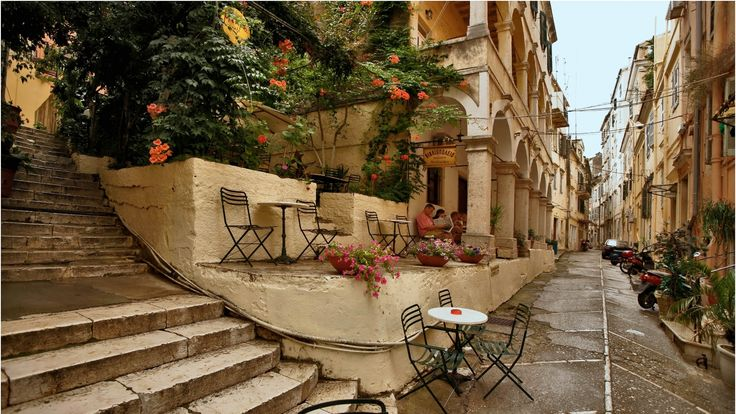 cafe in Corfu Town
