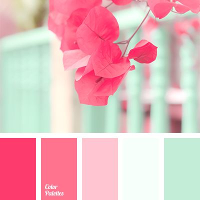 Bright, fresh mint color should be complemented with shades of crimson to create an original color combination. Use these colors when decorating your apart.