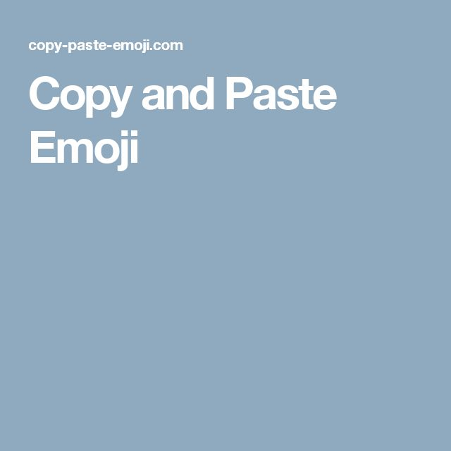 copy and paste emoji pictures