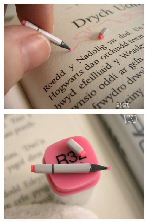 miniature Copic marker! how cute!