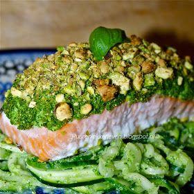 Puur & Lekker leven volgens Mandy: Zalm uit de oven met broccoli-pistachekorstje