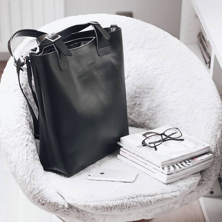 "135 Likes, 3 Comments - Gabriella Buzas (@epicstreetstyle) on Instagram: ""Totes amazing 😍 Shopping tips & links on epicstreetstyle.com . ."" minimal luxe luxury black leather tote bag work carry-on smart cool elle uk magazines dolce gabbana glasses iphone retro bubble armchair white"