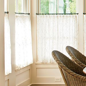 How To Hang Café Curtains