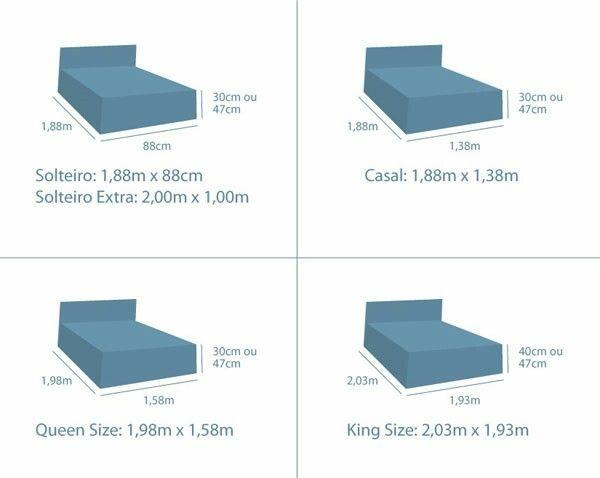 Las 25 mejores ideas sobre medidas de cama queen en for Medidas de cama matrimonial y king size
