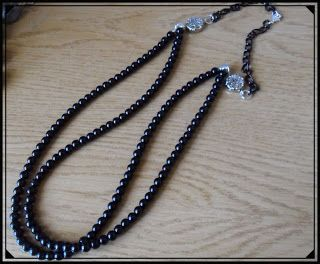 Silvia Jewellery of Style: Collana perle nere doppia fila