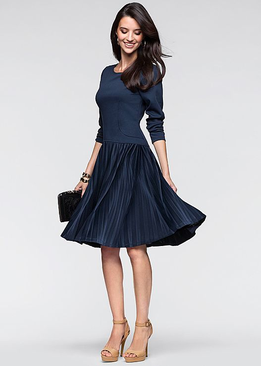 Flirty & fun + fit and flare! Venus pleated fit and flare dress.
