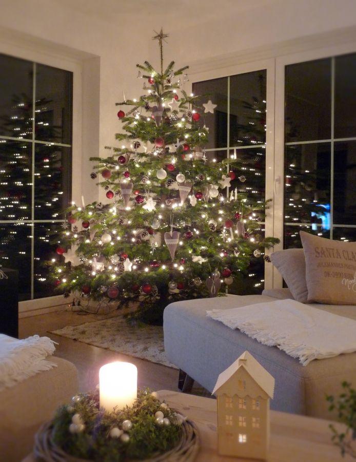 Ber ideen zu geschm ckter weihnachtsbaum auf for Weihnachtsbaumspitze lila