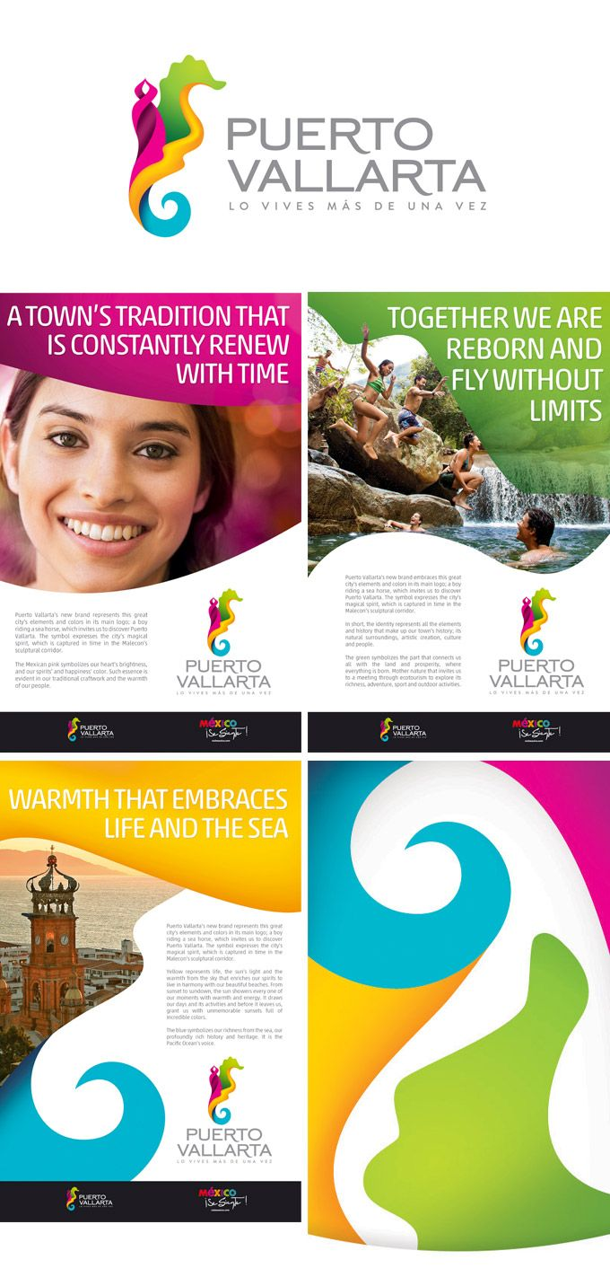Logo for Puerto Vallarta, Mexico, designed by Vertice Comunicacion with the support of SETUJAL (the federal tourism agency) #city_brand 2012