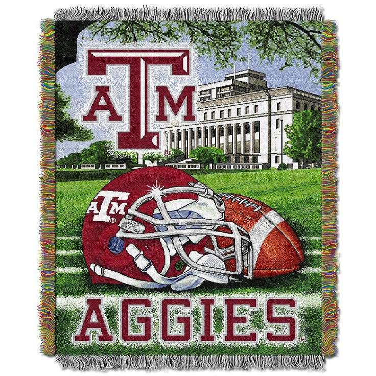 Texas A and M Aggies Tapestry Throw by Northwest, Multicolor