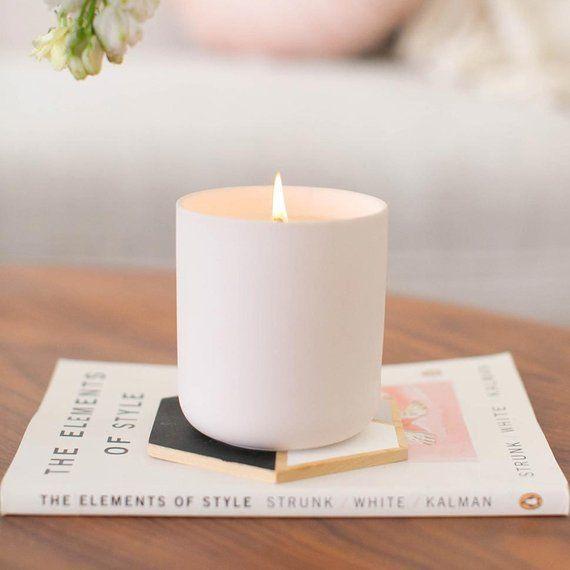 Feigenbaum Duftkerze – Kokoswachs Kerze, Aromatherapie Kerze, einzigartige Kerzen, Entspannungsgeschenk   – Products