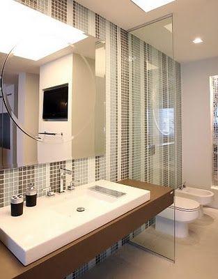Die besten 25+ Decoração banheiro com pastilhas de vidro Ideen auf - badezimmerausstattung