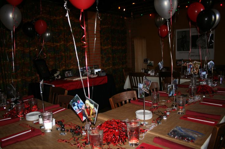 graduation party set up | For one Texas Tech grad, we set the party up at 'Triple J's Chop House ...