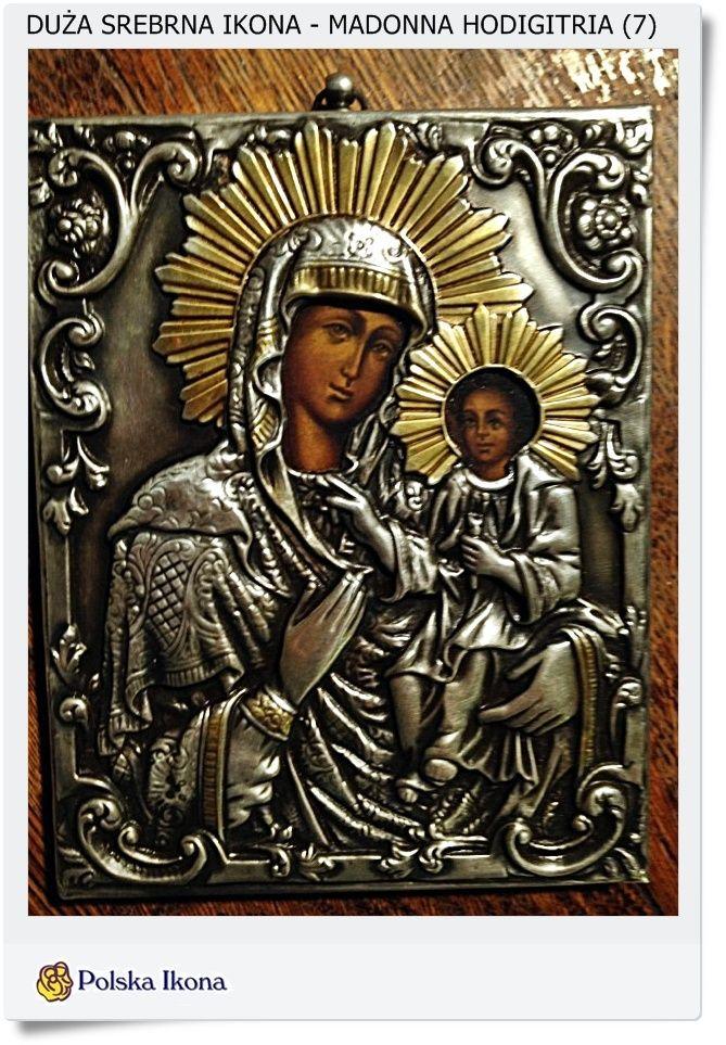 Srebrna ikona Madonna Hodigitria Silver Ag. 0999