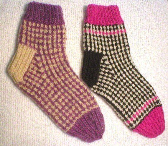 Knitting Pattern - Honeycomb Tweed Socks, knit slip stitch ...