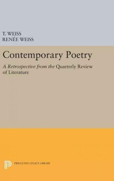 """Contemporary Poetry: A Retrospective from the """"Quarterly Review of Literature"""""""