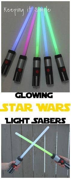 DIY Glowing Star Wars Light Saber.  These are easy and cheap and perfect for parties or costumes.