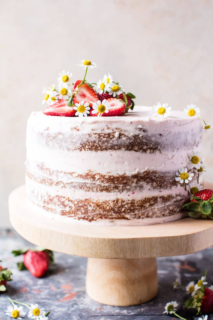 Strawberry Coconut Carrot Cake - Nothing complicated, simply bake the layers, make the buttercream, frost and DONE, and SO pretty too! @halfbakedharvest.com