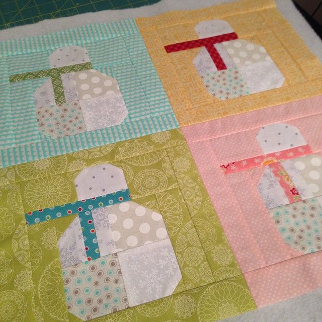 Snowman Sew Along By Lori Holt Of Bee In My Bonnet