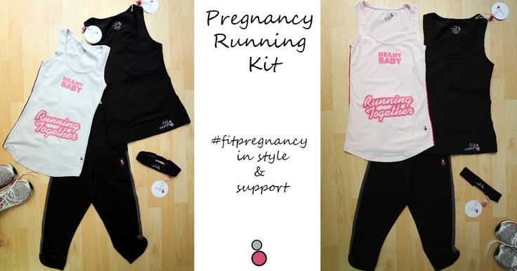 Pregnancy Running Kit 1 Want to continue running during pregnancy? Our Pregnancy Running Kit includes everything you need to support your bump including maternity running clothes, capris and head band!