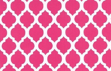 Raspberry Pink Quatrefoil print by Fabric by ForSewItSeams2, $9.99