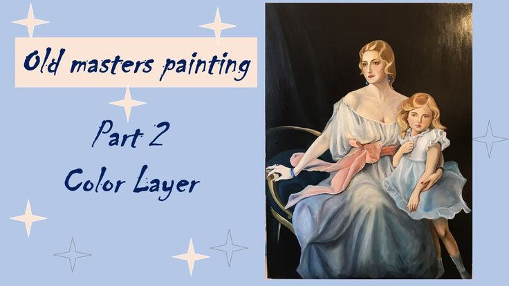 Oil painting / Copy of work of Philip de László / Color Layer / Finished...