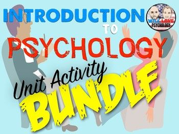 """Are you an psychology teacher looking for that perfect way to teach your psychology course? Are you a new teacher who needs great activities? Do you need to update your activities, but don't have the time? Are you looking for """"state of the art"""", innovative, and engaging activities to help your"""