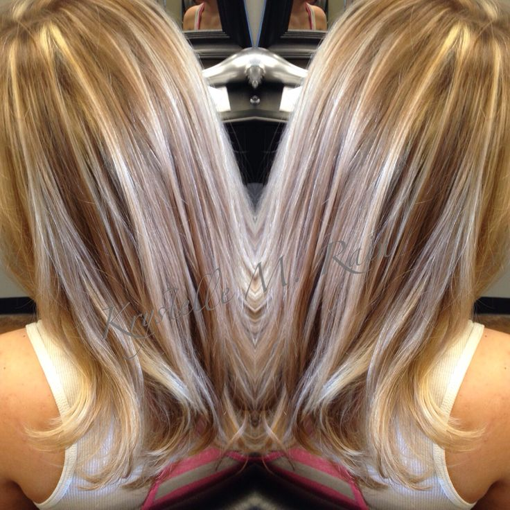Light Brown Hair Golden Blonde Highlights Impression