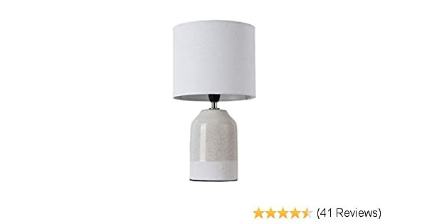 Pauleen 48022 Sandy Glow Max 20w For E14 Bedside Table Luminaire Beige White 230v Ceramic Fabric Without Lamp Amazon Co Lamp Glow Table Illuminate Cosmetics