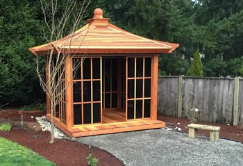Japanese Tea House Gazebo | Wood Gazebo kits, Custom Redwood Gazebos for Sale