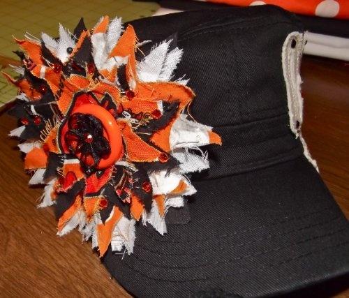 "Women's Cadet Hat - THRASHED FLOWER - ""COWBOY"" (Black) $24.99"