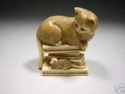"Vintage Chinese Japanese Tiger Resin Figurine NETSUKE NEW 1.5/"""