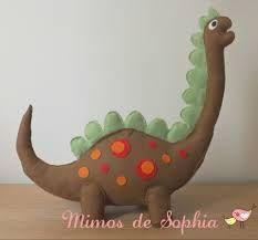 Resultado de imagen de Dinossauros em feltro moldes Mais