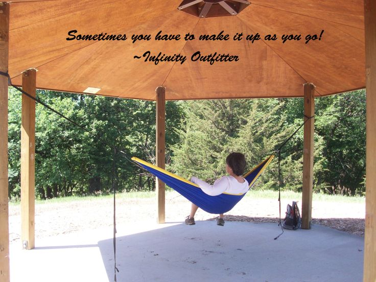 hammock quote  make it up as you go  12 best hang your hammock  images on pinterest   hammock hammocks      rh   pinterest